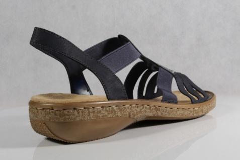 Rieker Damen 62821 Sandalen Sandaletten Sandale Pantoletten blau, 62821 Damen NEU!! Beliebte Schuhe fa7fed
