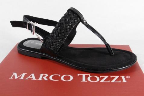 Marco Tozzi Sandalen Damen ZehenstegSandale Sandalen Tozzi Sandaletten schwarz NEU!! b20713