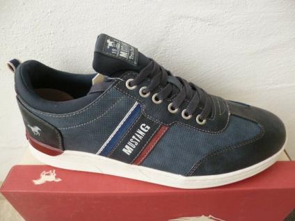 Mustang Herren Schnürschuhe Sneakers Halbschuhe blau NEU