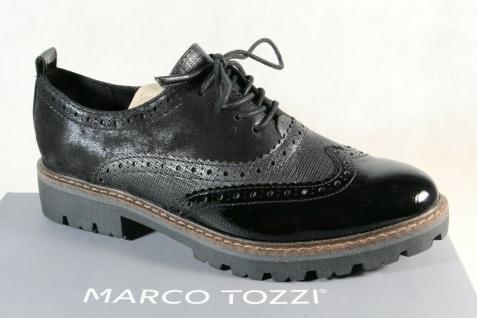 Marco Tozzi Schnürschuhe Sneakers Halbschuhe schwarz 23718 NEU!