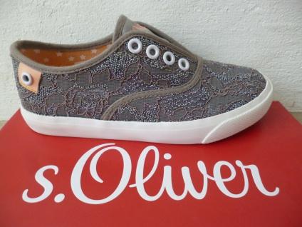 S. Oliver Slipper Sneakers Sportschuhe Halbschuhe Ballerina grau Mädchen NEU!