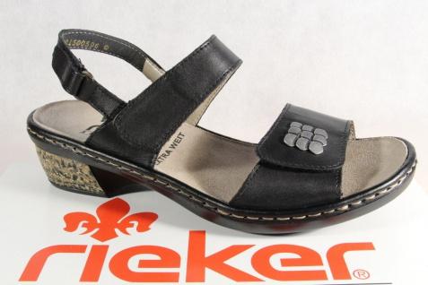 Rieker Damen Sandale 67162 Sandalette Sandalen schwarz 67162 Sandale Echtleder NEU!! aebe4a