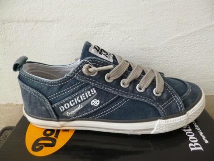 Dockers Slipper Sneakers Halbschuhe Schnürschuhe blau jeans NEU