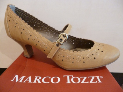 Marco Tozzi Pumps Ballerina Slipper beige hellbraun NEU!