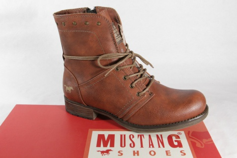 Mustang Stiefel, Stiefeletten, Boots mit Reißverschluß, braun, gefüttert NEU