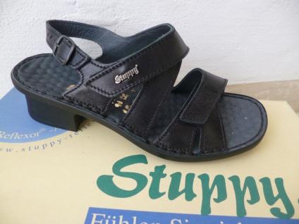 Stuppy Damen Damen Damen Sandale Sandalette Echtleder schwarz Neu! 2bab0f