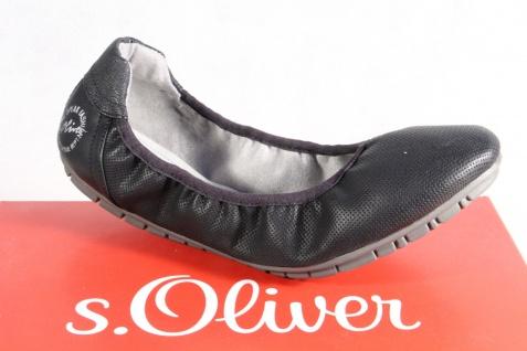 S.Oliver Ballerina Sneakers Slipper Sneakers Ballerina Pumps schwarz NEU!! 5f6d0a