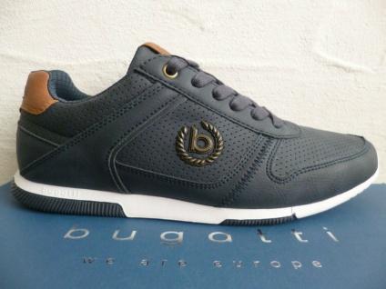 Bugatti Sneakers Sneaker Schnürschuhe Halbschuhe Slipper blau 73201 NEU!