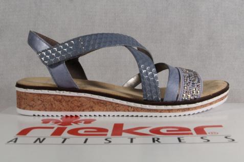 Rieker Damen V3663 Sandalen Sandaletten Sandale hellblau V3663 Damen NEU!! 952227