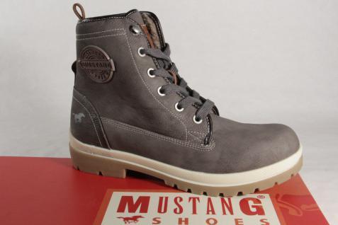 Mustang Stiefel Stiefeletten Schnürstiefel Boots grau 1207 NEU!