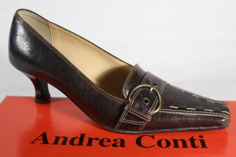 Andrea Conti Pumps, NEU! Slipper, Trotteur Echtleder braun NEU! Pumps, 98629f
