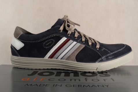 Jomos aircomfort Herren Schnürschuh 314304 Sneakers Halbschuh blau Leder NEU - Vorschau 2