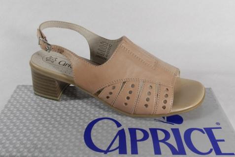 Damen Caprice Sandale Lederinnensohle, beige, Echtleder Lederinnensohle, Sandale Lederfutter Neu 9ceedf