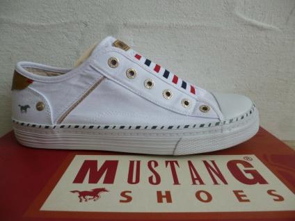 Mustang Sneaker Sneakers Slipper Slippers weiß rot blau 1376 NEU!