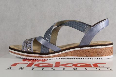 Rieker Damen Sandale Sandalen Sandaletten Sandale Damen hellblau V3663 NEU!! 4a373a