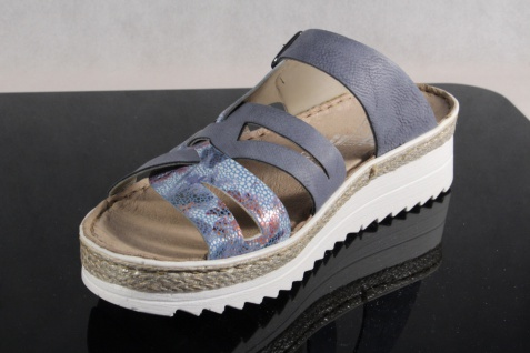 Rieker metallic Pantoletten Pantolette Pantoffel blau/ metallic Rieker V3297 NEU! 392d1c