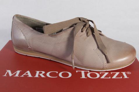 Marco Tozzi pfeffer Schnürschuhe Sneakers Halbschuhe Echtleder pfeffer Tozzi NEU! 9e8e49