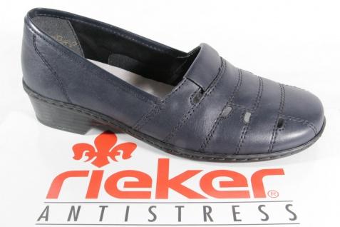 Rieker Slipper weicher mit weicher Slipper Lederinnensohle, blau, NEU 0abef8