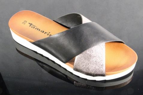 Tamaris Pantolette NEU! Pantoletten Hausschuhe Pantoffel schwarz/silber NEU! Pantolette d2911d