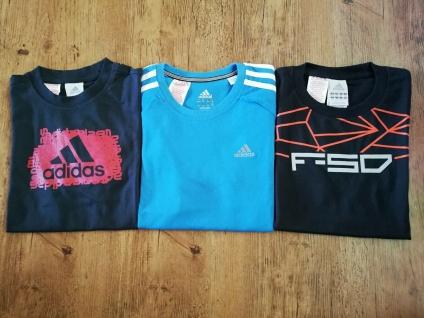 Adidas T-Shirts Set Jungen schwarz hellblau Shirt Kinder Sport Neu!