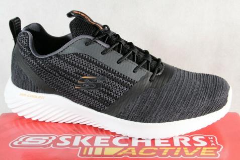 Skechers Herren Sneakers Sportschuhe Halbschuhe Schnürschuhe schwarz NEU!