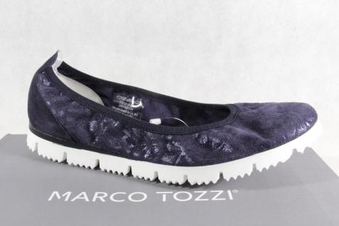 Marco Tozzi blau Ballerinas Slipper Halbschuhe Pumps blau Tozzi Echtleder NEU!! caae5b