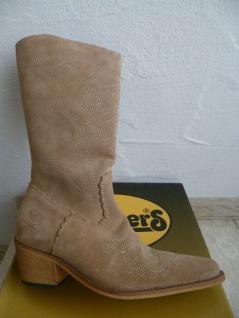 Dockers Cowboystiefel Westernstiefel Stiefel Motorradstiefel Boots beige Leder - Vorschau 4