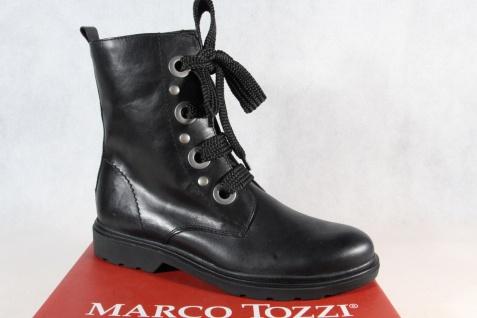 Marco Tozzi 25276 Damen Stiefel Stiefelette Boots Schnürstiefel schwarz NEU!
