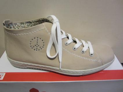 Rieker Stiefel, beige, Schnürschuh, Stiefel, beige, Stiefel, sand Stofffutter, NEU 23e961