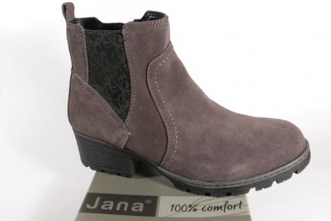 Jana 25404 Damen Stiefel Stiefelette Stiefeletten Boots Echtleder grau NEU!