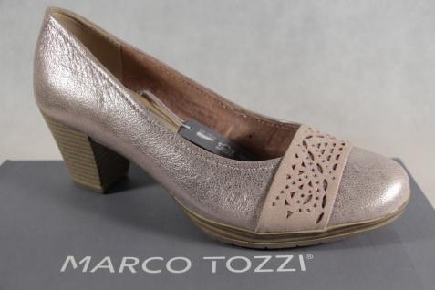 Marco Tozzi Pumps Ballerina Slipper rose metallic Echtleder NEU!