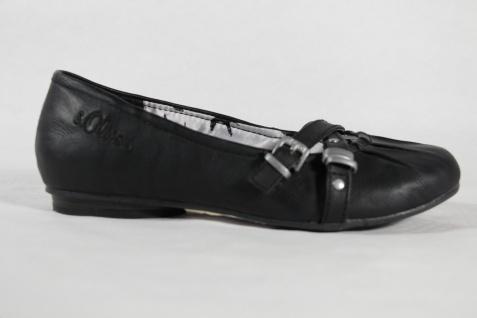 S.Oliver Ballerina schwarz, schwarz, schwarz, Lederinnensohle NEU!! 179d82