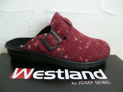 Westland by Seibel Damen Pantoffel Clogs Hausschuh Hausschuhe rot NEU!!