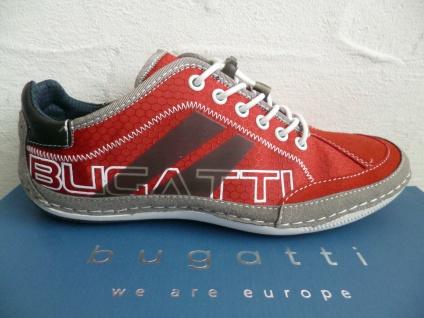 Bugatti Sneakers Sneaker Schnürschuhe Halbschuhe Slipper rot 48013 NEU!
