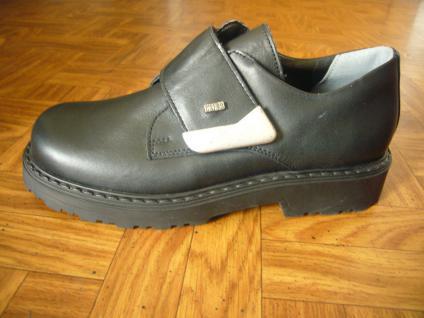 Mega Gaga Jungen Slipper schwarz Leder Schuh Kinderschuh Neu! - Vorschau 1