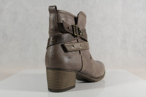 Mustang Damen leicht Stiefel Stiefeletten Stiefel taupe/ braun leicht Damen gefüttert 1197 NEU 24be19