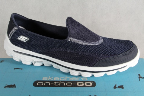 new style 18f06 c96b9 Skechers GOWalk2, Slipper Ballerina Sneakers Sportschuhe blau NEU!