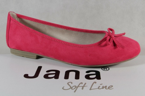 Soft Line by Jana Damen Ballerina Pumps Slipper pink Weite H NEU!