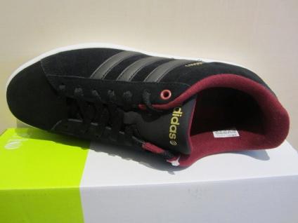 Adidas Herren Schnürschuh Sneakers DERBY schwarz/bordo Leder NEU - Vorschau 4