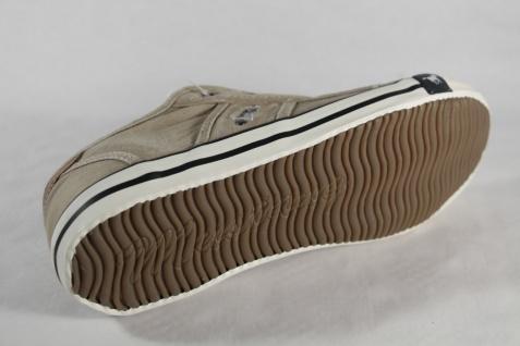 Mustang Halbschuhe Slipper Sneakers Sportschuhe Halbschuhe Mustang beige Stoff Gummisohle NEU c62f95