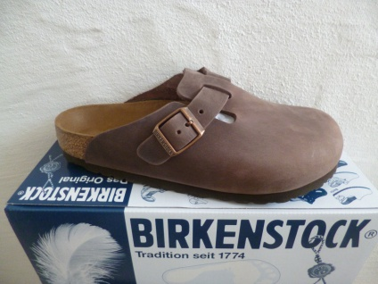 Birkenstock Clogs Boston Pantoletten Sabot braun Leder 0860131 Neu!!