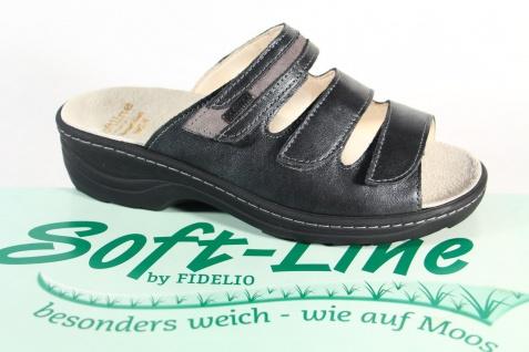 Fidelio Soft Line Damen 23423 Pantolette Pantoletten Pantoffel Echtleder 23423 Damen NEU! 38936a