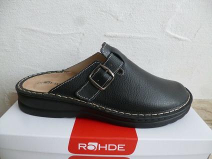 Rohde Herren Pantolette Pantoletten Clogs Sabot schwarz Leder 6683 NEU!