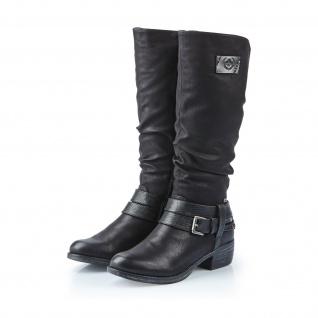 Rieker-Tex Damen Stiefel gefüttert Stiefeletten schwarz warm gefüttert Stiefel 93158 NEU d300d9
