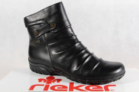 Rieker-Tex Stiefelette Damen Stiefel Stiefelette Rieker-Tex schwarz Echtleder Z4652 NEU!! f090ab