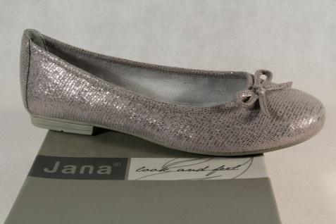 1Soft Line by Jana Damen Ballerina Pumps Slipper grau Weite H 22164 NEU!
