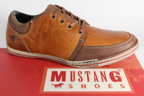 Mustang Herren Schnürschuhe braun, Sneaker Halbschuhe braun, Schnürschuhe Leder NEU b4d1e3