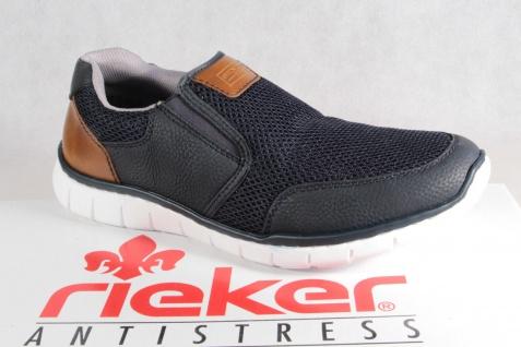 Rieker Halbschuhe Slipper Schnürschuhe Sneaker blau B8762 NEU!!