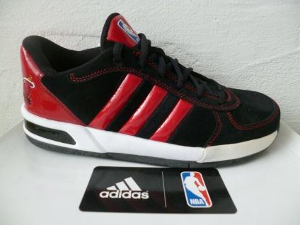 Adidas Herren Schnürschuh Sneakers schwarz/rot Leder NEU