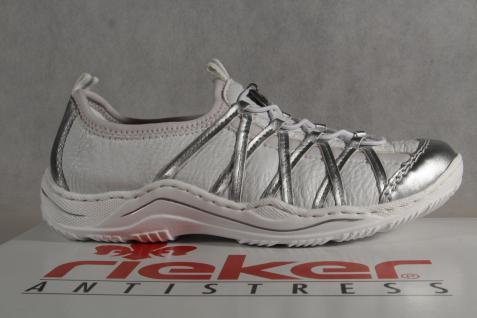 Rieker Ballerina Slipper Sneakers Halbschuhe Sportschuhe Ballerina Rieker weiß L0551 NEU! fc72c8